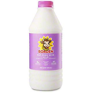 Borden Fat Free Skim Milk, 1 QT