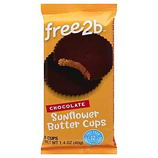 Free2B Milk Chocolate Sunflower Butter Cups, 1.5 OZ