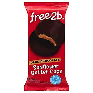 Free2B Dark Chocolate Sunflower Butter Cups,1.5 OZ