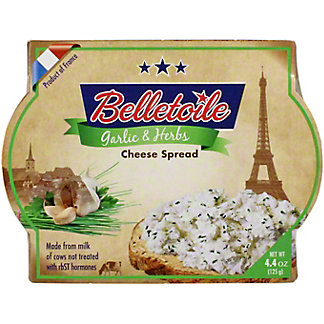 Belletoile Garlic & Herbs Cheese Spread, 4.4 oz