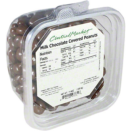 Central Market Chocolate Covered Peanuts,sold by the pound