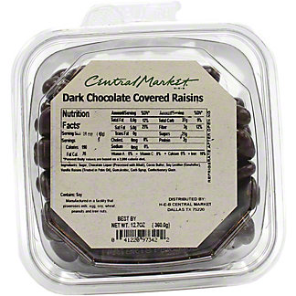 Central Market Dark Chocolate Covered Raisins, 12.7 oz