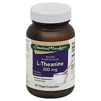 Central Market L-Theanine 200 mg Vegan Capsules,60 CT