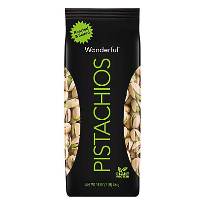 Wonderful Roasted and Salted Pistachios, 16 oz