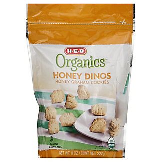 H-E-B Organics Dino Honey Graham Cookies,8 OZ