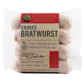 Schaller & Weber Cooked Bratwurst,12 OZ