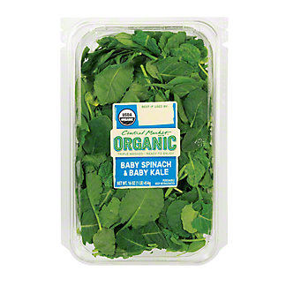 Central Market Organic Baby Spinach and Baby Kale, 16 oz