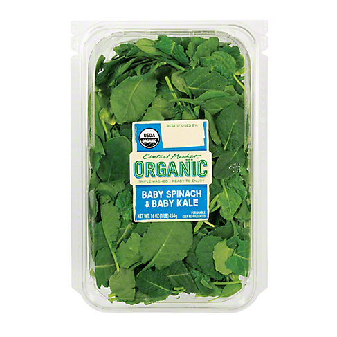 Central Market Organic Baby Spinach & Baby Kale, 16 OZ