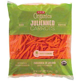 H-E-B Organics Julienned Carrots,10 OZ
