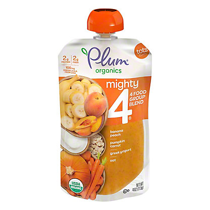 Plum Organics Mighty 4 Pumpkin, Pomegranate, Quinoa & Greek Yogurt,4 OZ