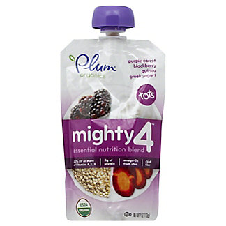 Plum Organics Tots Mighty 4 Purple Carrot, Blackberry, Quinoa & Greek Yogurt,4 OZ