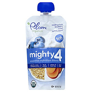 Plum Organics Mighty 4 Sweet Potato, Blueberry, Millet and Greek Yogurt Baby Food,4 OZ