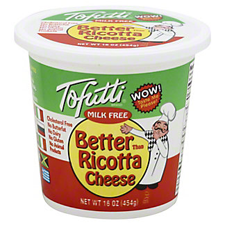 Tofutti Milk Free Better Than Ricotta Cheese, 16 OZ