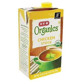 H-E-B Organics Chicken Stock, 32 oz