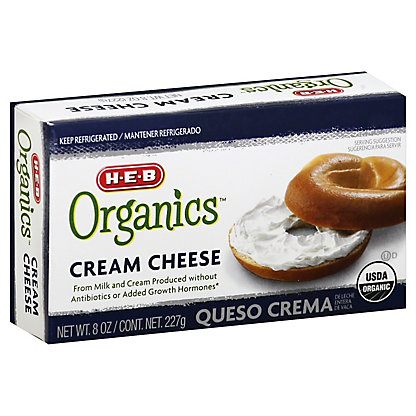H-E-B Organics Cream Cheese Brick,8 OZ