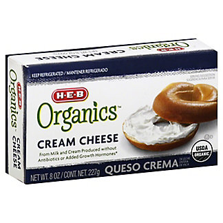 H-E-B Organics Cream Cheese Brick,8 OZ