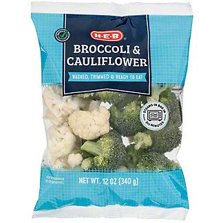 H-E-B Broccoli and Cauliflower, 12 oz