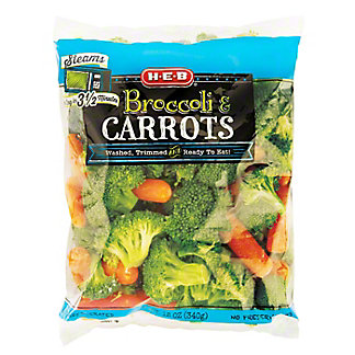 H-E-B Broccoli and Carrots, 12 oz