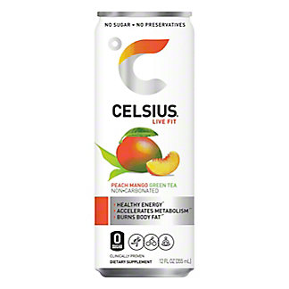 Celsius Celsius Peach Mango Green Tea,12 oz