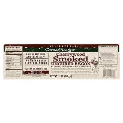 Central Market Cherrywood Smoked Bacon 12 OZ