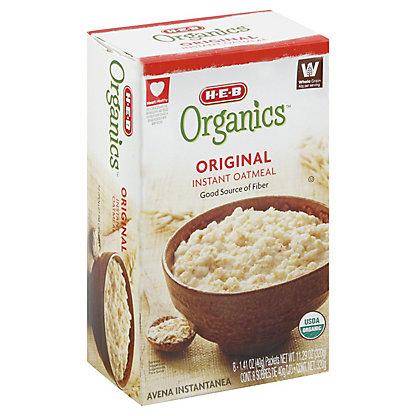 H-E-B Organics Original Instant Oatmeal, 8 ct