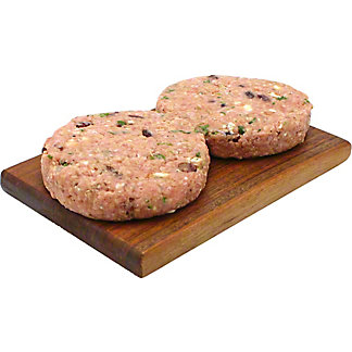 Central Market Cranberry-Gorgonzola Seasoned Turkey Burgers, LB
