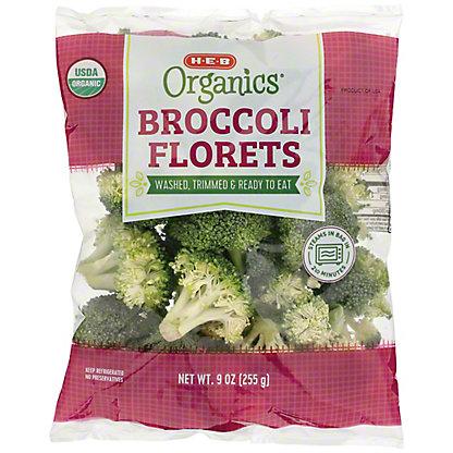 H-E-B Organics Broccoli Florets,10 OZ