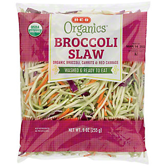 H-E-B Organics Broccoli Slaw,10 OZ