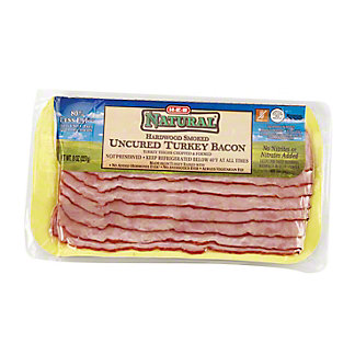 H-E-B Natural Uncured Turkey Bacon,8 OZ