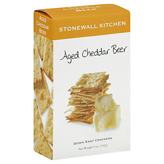 Stonewall Kitchen Aged Cheddar Beer Crackers,5OZ