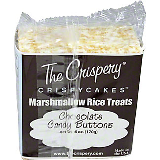 The Crispery Crispycakes Chocolate Buttons Marshmallow Rice Treats,6 OZ