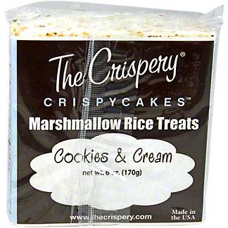 The Crispery Crispycakes Marshmallow Rice Treats, Cookies & Cream,6.00 oz