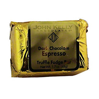 JOHN KELLY CHOCOLATES John Kelly Dark Chocolate Espresso Truffle Fudge Bar,1.7 OZ