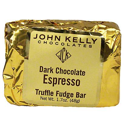 JOHN KELLY CHOCOLATES John Kelly Dark Chocolate Espresso Truffle Fudge Bar,1.7 OZ