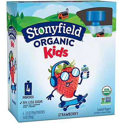 Stonyfield Organic YoKids Squeeze Strawberry Yogurt,4 ct