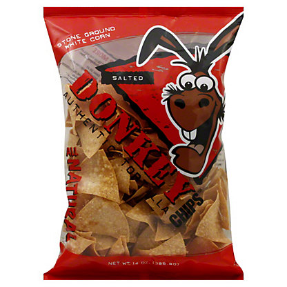 DONKEY CHIPS Salted Tortilla Chips, 14.00 oz