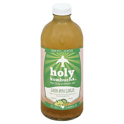 Holy Kombucha Green Apple Ginger, 16.9OZ