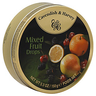 Cavendish & Harvey Cavendish and Harvey Mixed Fruit Drop Travel Tin,5.3 OZ