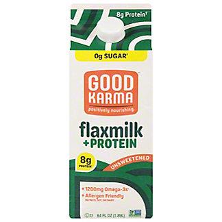 Good Karma Unsweetened Original + Protein Flax Milk, 1/2 gal