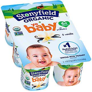 Stonyfield Farm Organic YoBaby Vanilla Yogurt, 6 ct