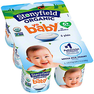 Stonyfield YoBaby Plain Yogurt, 6 ct