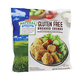 H-E-B Natural Fully Cooked Breaded Chicken Breast Chunks,24 OZ