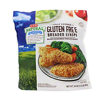 H-E-B Natural Fully Cooked Breaded Chicken Breast Strips,24 OZ