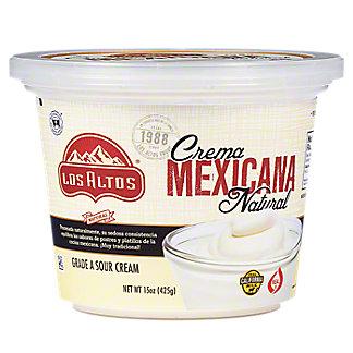 Los Altos Natural Crema Mexicana,15 oz