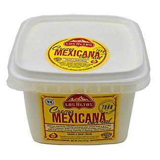 Los Altos Natural Crema Mexicana with Salt,15 oz.