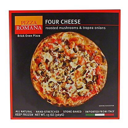 Pizza Romana Four Cheese with Mushroom & Tropea Onion,13OZ