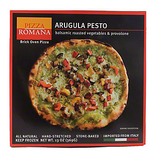 Pizza Romana Arugula Pesto with Balsamic Roasted Vegetables & Provolone,13OZ