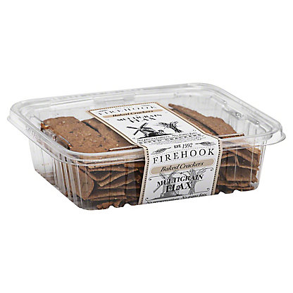 Firehook Baked Multigrain Flax Crackers,8 OZ