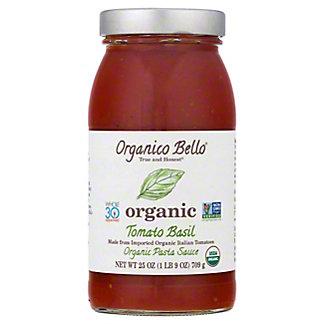 Organico Bello Organic Tomato Basil Pasta Sauce,25 OZ