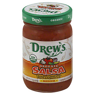 Drews Organic Medium Salsa,12 oz (340 g)